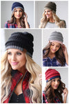 Below Freezing Two Tone Beanies women's hats, closet candy boutique 1