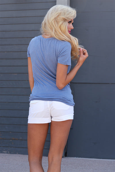 If Only Belted Shorts - White woemens shorts with braided belt closet candy