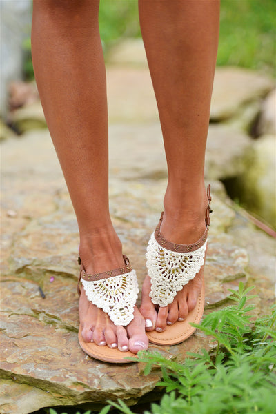 Waves Of Promise Crochet Sandals