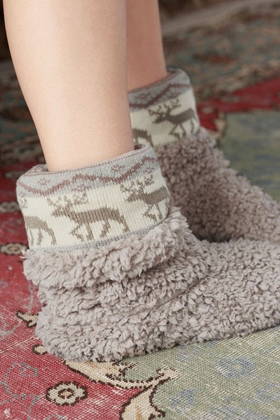Cozy Reindeer Slippers