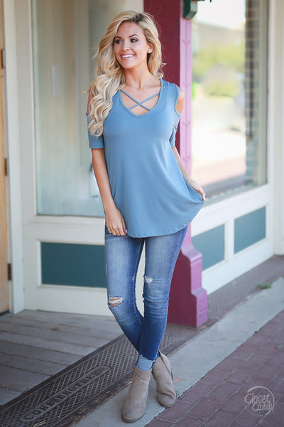 Day Downtown Top - Blue
