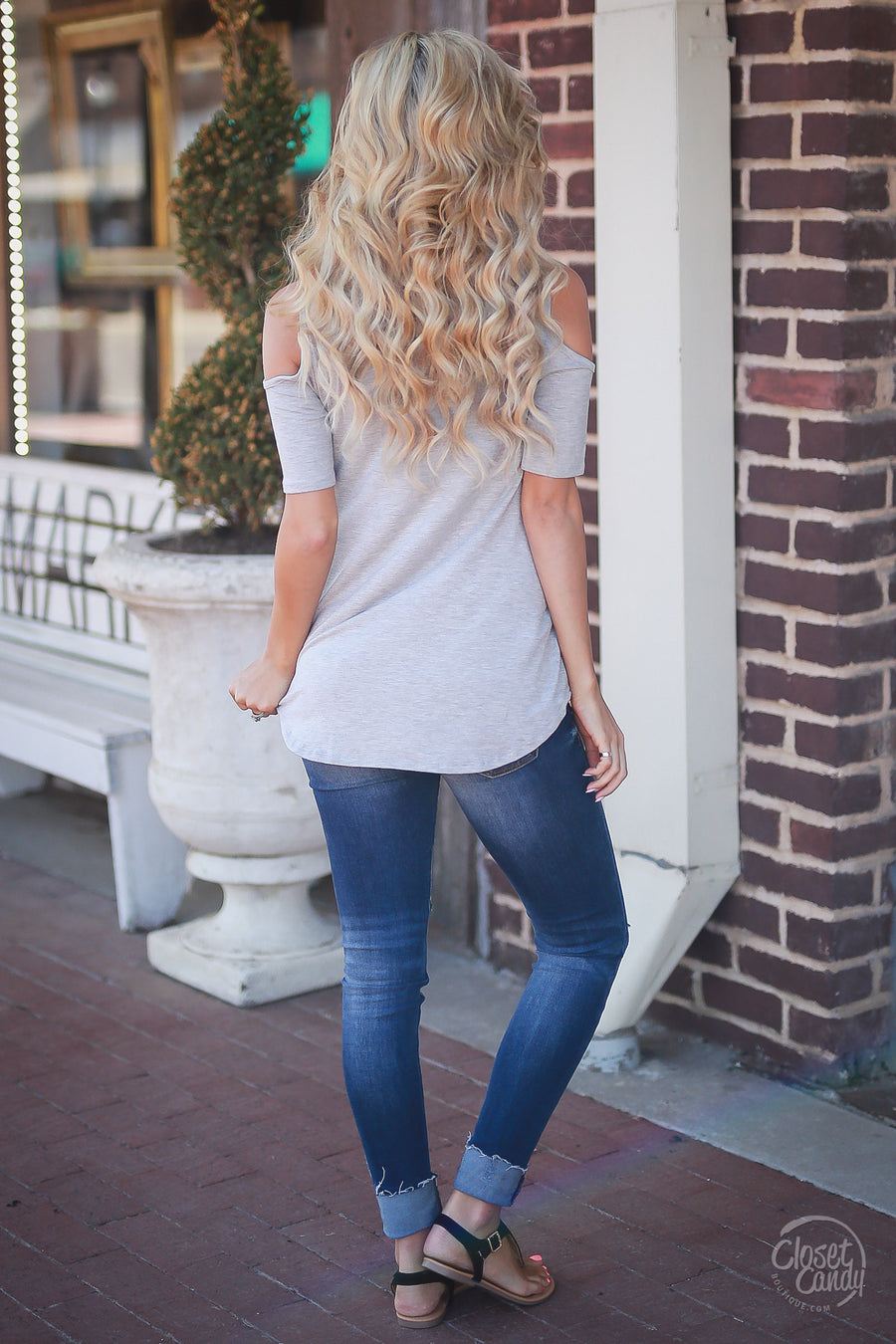 Day Downtown Top - Heather Grey
