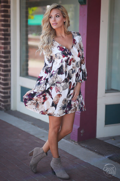 Budding Romance Dress - Ivory