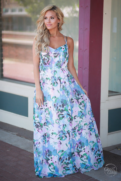What Dreams are Made of Maxi Dress- Trendy and fashionable maxi dress by BB Dakota - Detail view