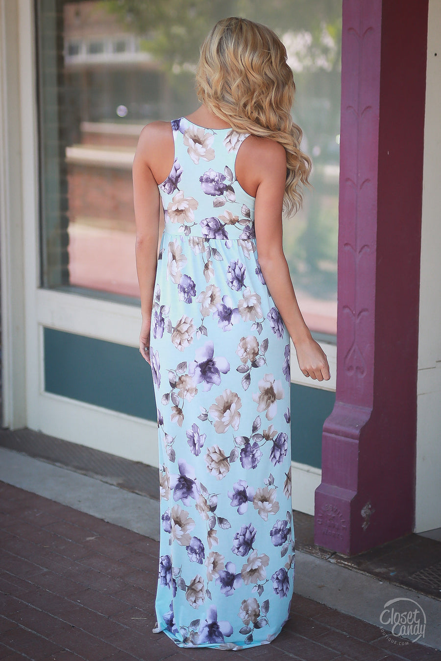Garden Party Maxi Dress - Sky Blue
