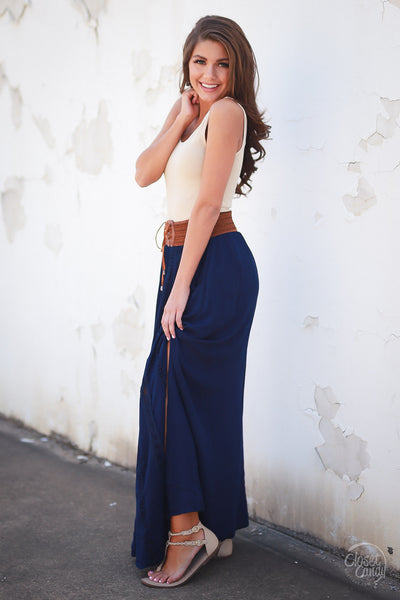 Just Wandering Maxi Skirt long skirt trendy women clothing fashion closet candy boutique