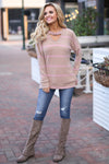 Moment Of Truth Top - cute taupe stripe top, front, Closet Candy Boutique