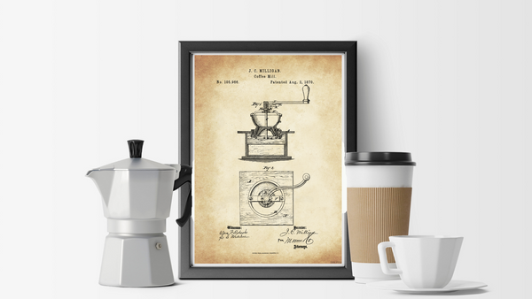 1870 Coffee Mill Patent Drawing