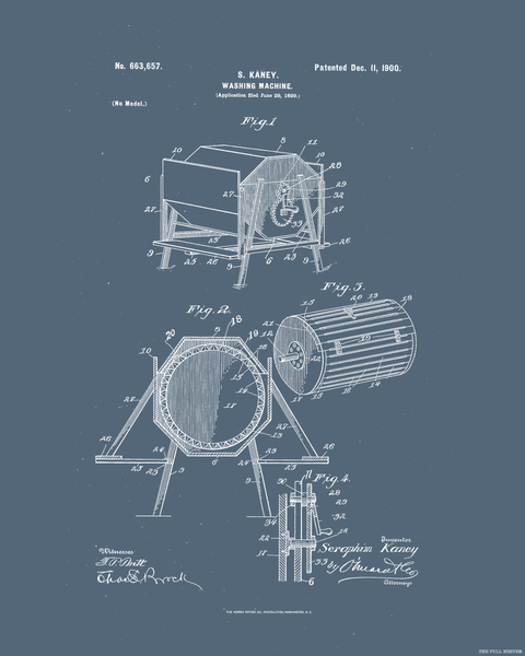 1900 Washing Machine Patent Drawing