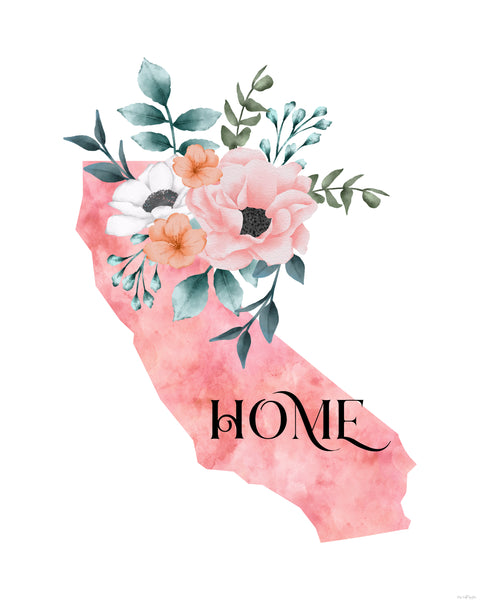 California Home State printable