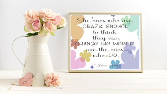 Change the World printable