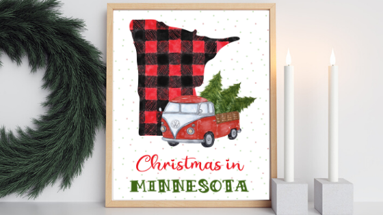 Minnesota Christmas printable