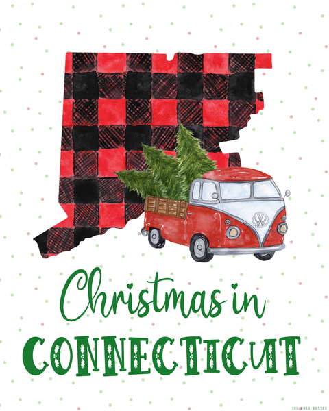 Connecticut Christmas printable