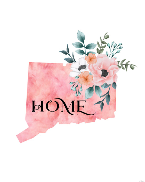 Connecticut Home State printable
