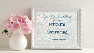 In the Middle of Difficulty printable