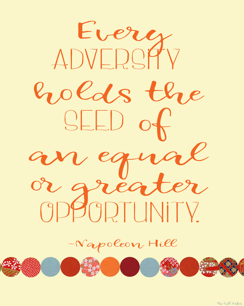 Every Adversity printable