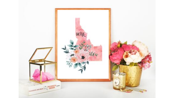 Idaho Home State printable