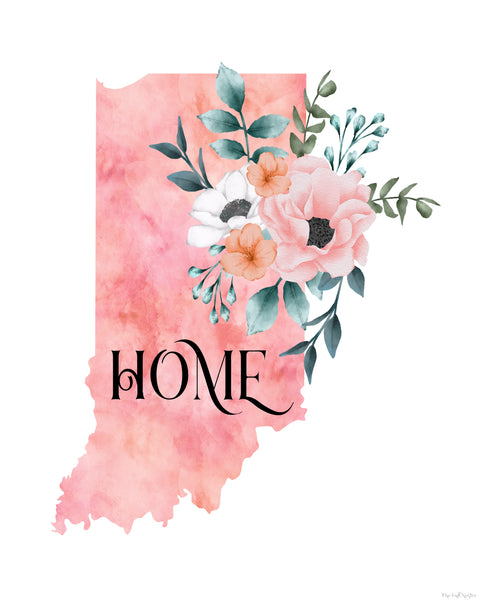 Indiana Home State printable