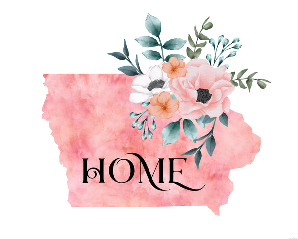 Iowa Home State printable