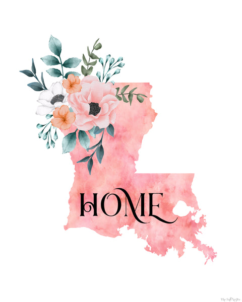 Louisiana Home State printable