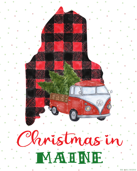 Maine Christmas printable