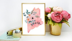 Maine Home State printable