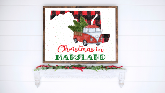 Maryland Christmas printable