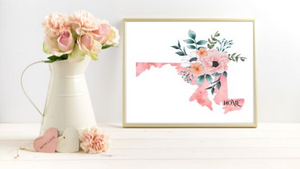 Maryland Home State printable
