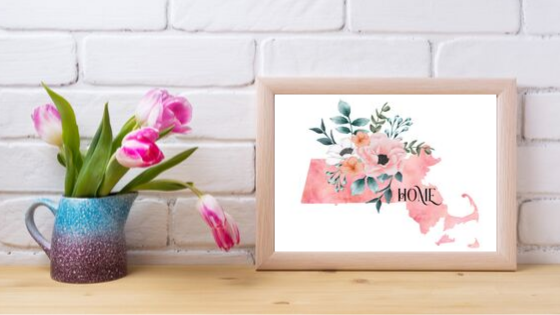 Massachusetts Home State printable