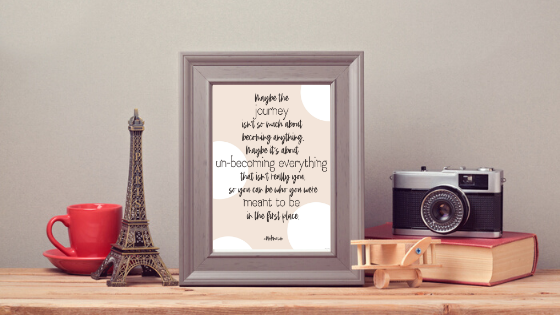 Maybe the Journey Isn't... printable