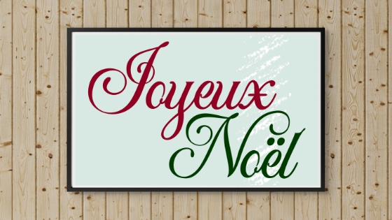 Merry Christmas in French printable