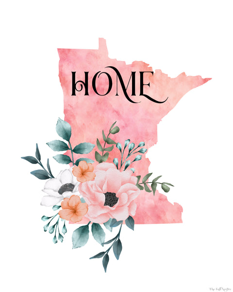 Minnesota Home State printable