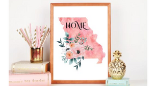 Missouri Home State printable
