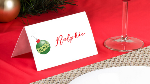 Ornaments placecards