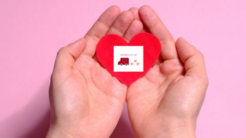 Valentine's Day Delivery Truck printable