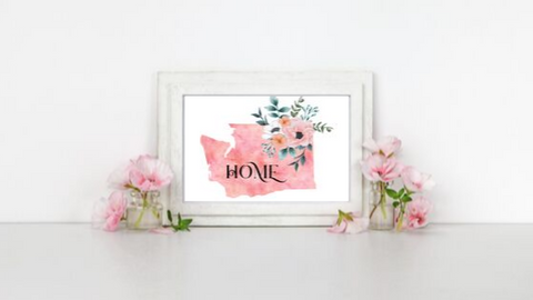 Washington Home State printable
