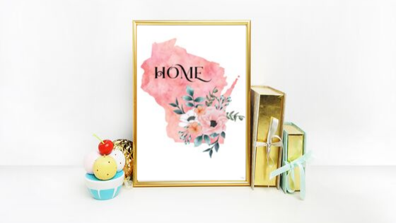 Wisconsin Home State printable