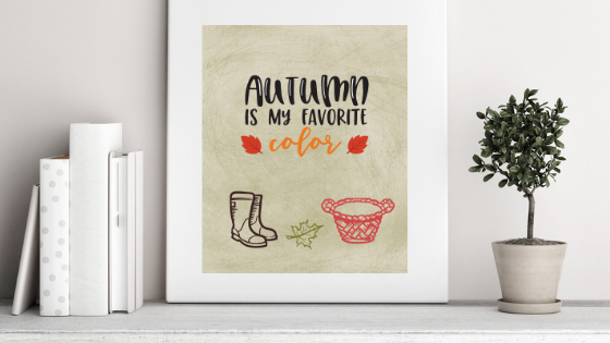 Autumn is my Favorite Color printable