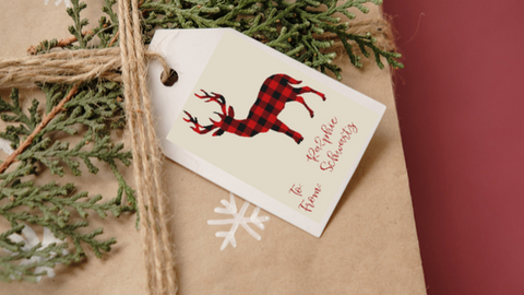 Buffalo Plaid Gift Tags