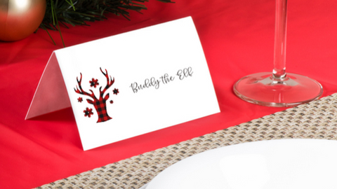 Buffalo Plaid placecards