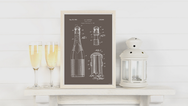 1933 Champagne Bottle Closure Patent Drawing