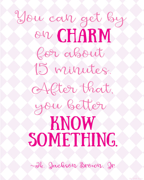 Get By on Charm printable