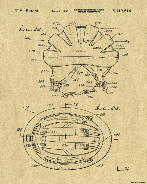 Cycling Helmet Patent Drawing