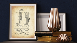 1901 Gas Lamp Patent Drawing