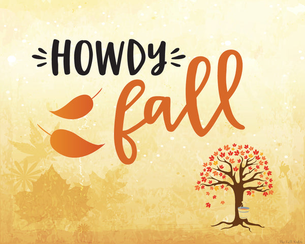 Howdy Fall printable