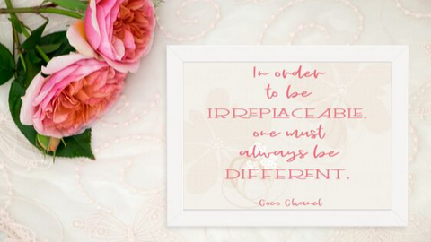 Irreplaceably Different printable