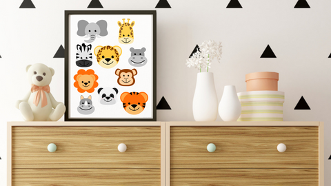 Jungle Babies Nursery Printable