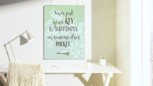Key to Happiness printable