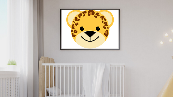 Baby Jungle Leopard Nursery Printable