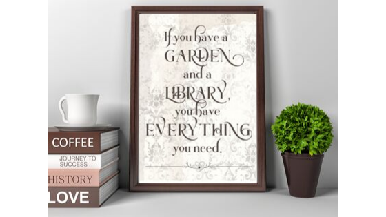 Garden and a Library printable